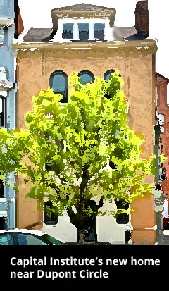 Townhouse with tree in front